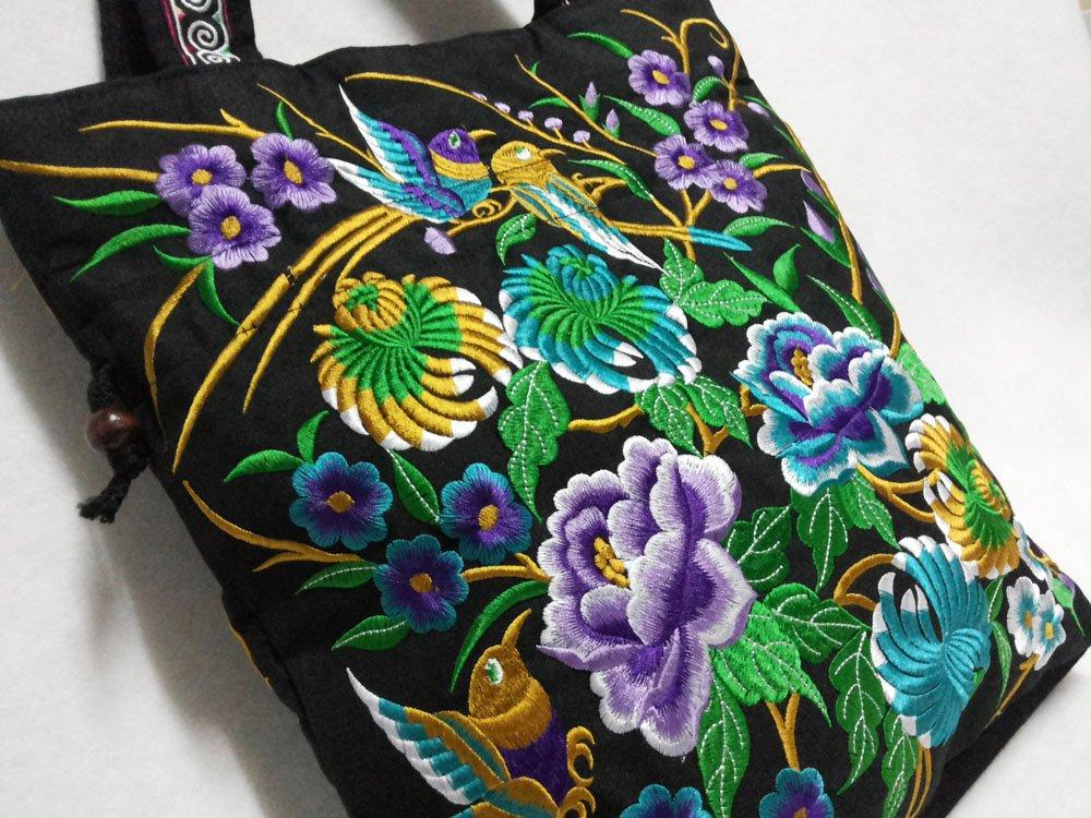 Asian Thai Tribal Indian Vintage Shoulder Tote Hobo Bag Women Handbag HM HTF