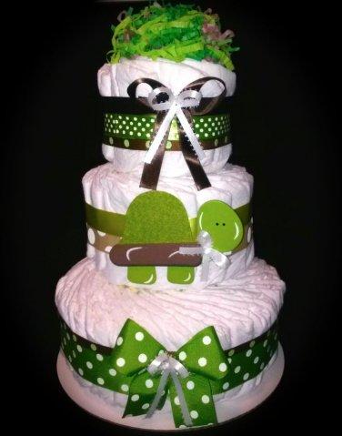 Turtle Diaper Cake Three Tier