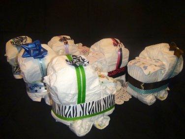Diaper Cake Stroller/ Diaper Cake Centerpiece for boy, for girl