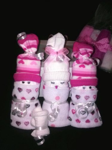 Mini Diaper Babies in Cupcake Box for Boys, Girls or Unisex