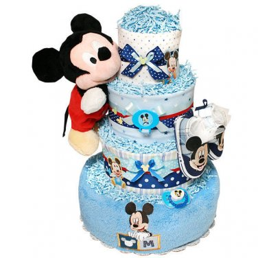 Baby Girl, Boy or Neutral Four Tier Disney Diaper Cake by Little KG's Dreams