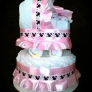 Minnie Mouse Pink Diaper Cake Set Disney Baby Shower Centerpiece for Girl