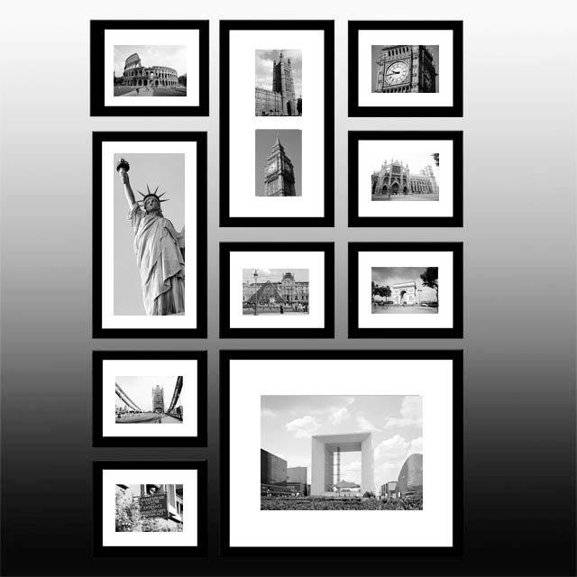 Black Collage Photo Frame Set of 10
