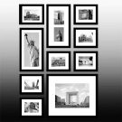 Black Collage Photo Frame Set of 10
