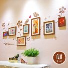 Brown Photo Frame with Wall Sticker