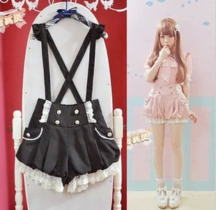 Suspender Shorts/Pantalones Tirantes Wh294 Kawaii Clothing