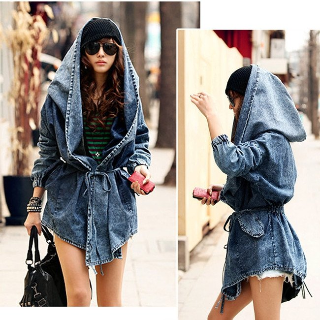 Denim Hoodie/Chaqueta Vaquera Wh312 Kawaii Clothing