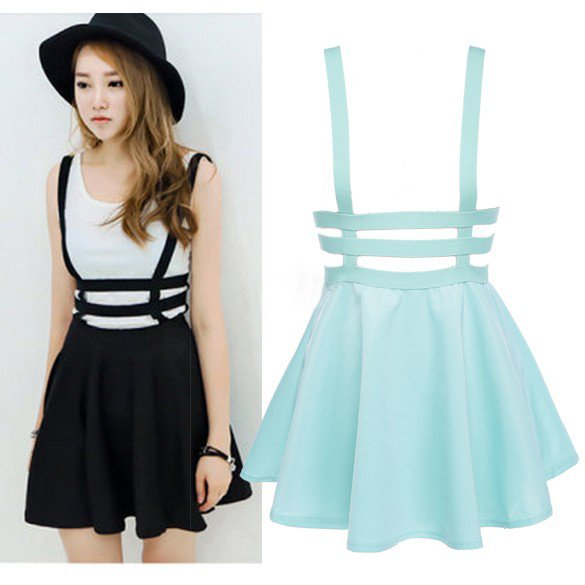Suspender Skirt / Falda Tirantes WH065 Kawaii Clothing