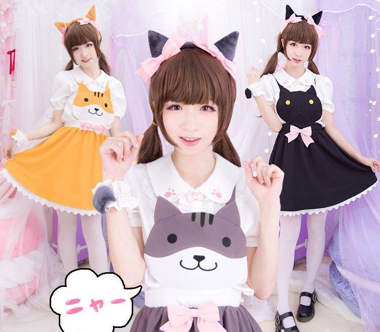 Vestido Gato / Cat Dress WH027 Kawaii Clothing