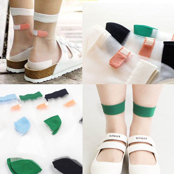Calcetines Tiritas / Band Aid Socks WH119 Kawaii Clothing
