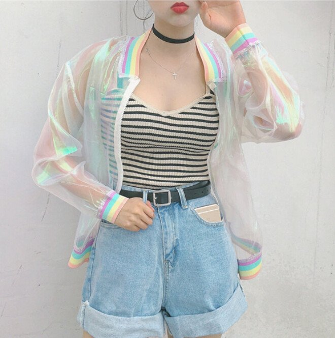 Transparent Jacket / Chaqueta Transparente WH061 Kawaii Clothing