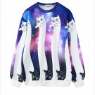 Galaxy Cat Sweatshirt / Sudadera Gato Galaxia WH299 Kawaii Clothing