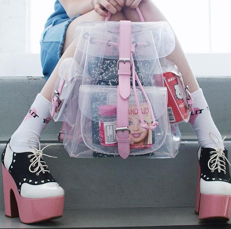 Transparent Backpack / Mochila Transparente WH348 Kawaii Clothing