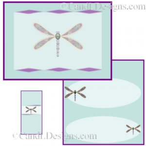 Dragonfly Candy Wrapper/Party Favors Set [dl079]