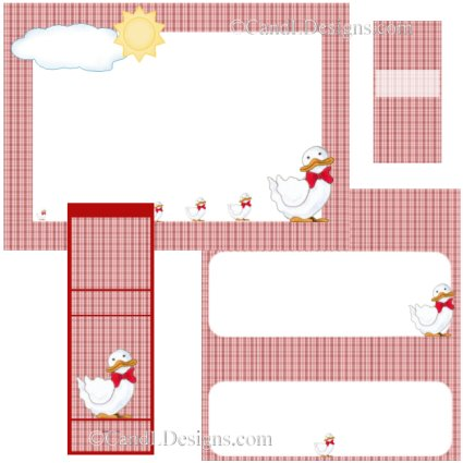 Duck 1  Candy Wrapper/Party Favors Set [dl043]