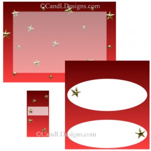Red Star Candy Wrapper/Party Favors Set [dl002]