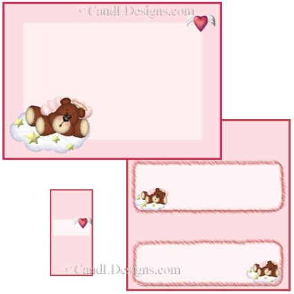 Angel Bear Girl Candy Wrapper/Party Favors Set [dl004]