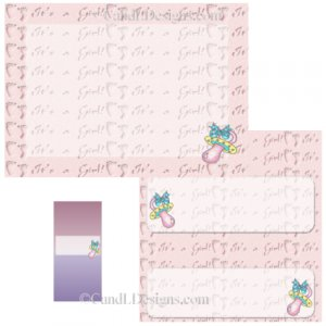 It's A Girl Candy Wrapper/Party Favors Set [dl006]