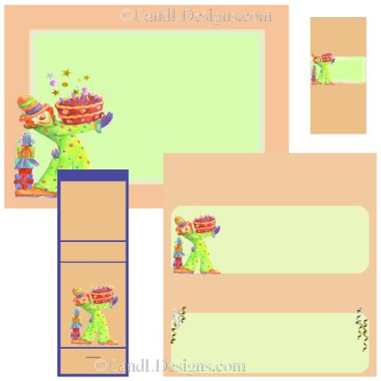 Clown Candy Wrapper/Party Favors Set [dl012]