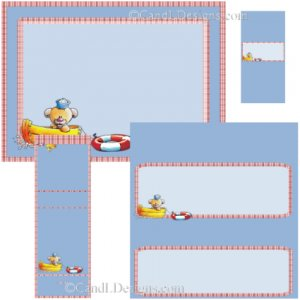 Duck Boating  Candy Wrapper/Party Favors Set [dl062]