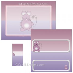 Mouse Candy Wrapper/Party Favors Set [dl018]