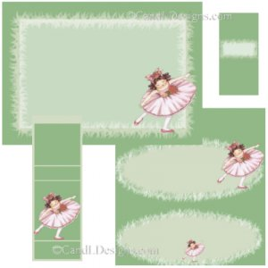 Ballet Girl Candy Wrapper/Party Favors Set [dl042]