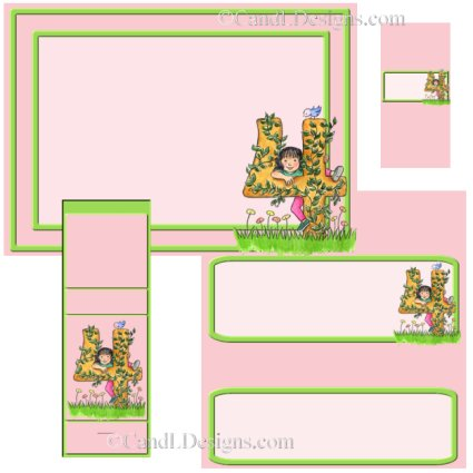Girl 4th Birthday Candy Wrapper/Party Favors Set [dl041]