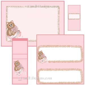 Kitty Ballet Candy Wrapper/Party Favors Set [dl017]