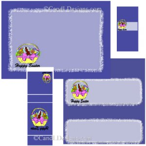Blue Easter Candy Wrapper/Party Favors Set  [dl023]