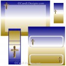 Gold Cross Candy Wrapper/Party Favors Set [dl026]