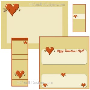Red Heart Candy Wrapper/Party Favors Set [dl029]