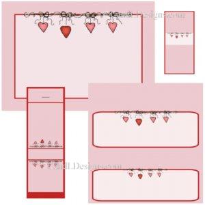 Valentine Border Candy Wrapper/Party Favors Set [dl036]