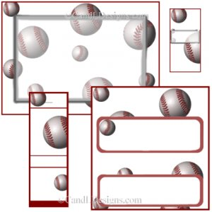 Baseball Candy Wrapper/Party Favors Set [dl034]