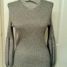 Authentic CHANEL Silver Gray Cashmere Sweater NWOT 40