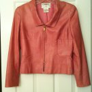 Authentic CHANEL Pink Leather Jacket 42