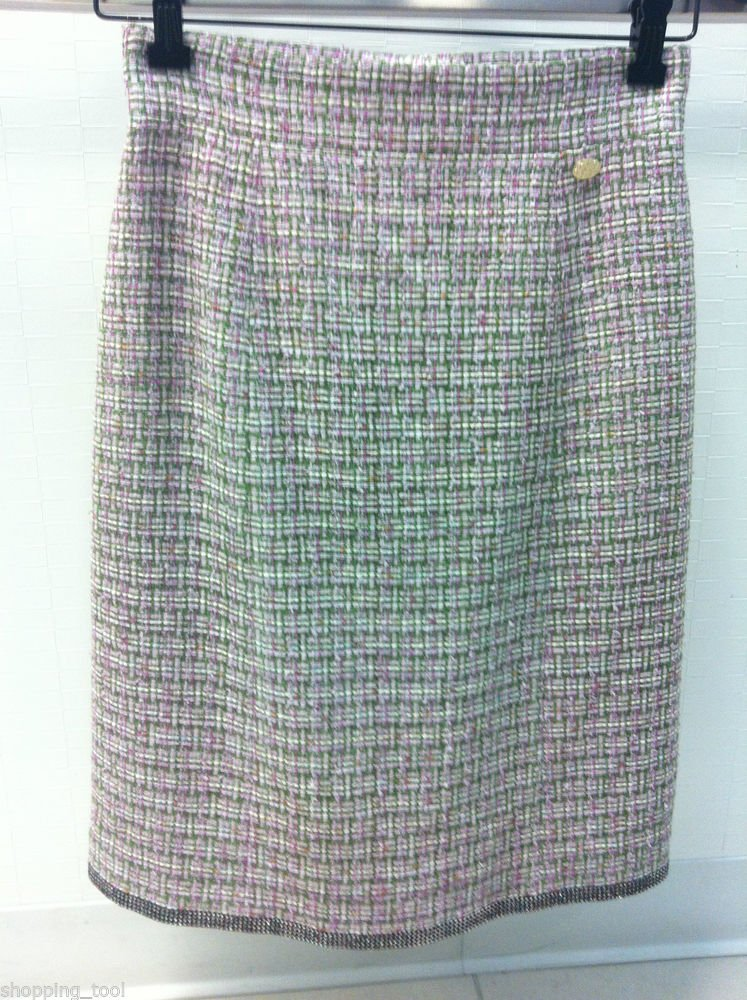 11P CHANEL Tweed Sequins Embellished  Runway Skirt NWT Size 38 FR