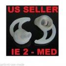 2 MED (pair) EARGEL FOR IE2 2 2ND SERIES BLUETOOTH HEADSET EAR GEL BUD TIP BG01