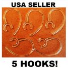 Motorola HK201 Earhook LOOP CLIP WIRE PART 5 c PIECE FOR Bluetooth headset NEW