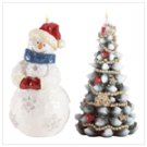 Snowman and Christmas Tree
