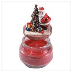 Santa Top Scented Candle Jar