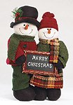 Plush Standing Snowman Couple