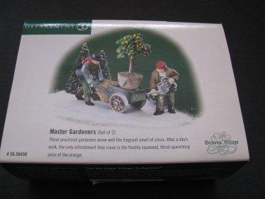 Department 56 Dickens Village Master Gardeners Set of 2 #58458 Retired