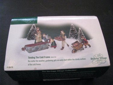 Department 56 Dickens Village Tending The Cold Frame Set of 3, #58416 Retired