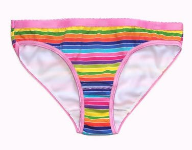 Rainbow Prints Cotton Bikini Brief 3 pk.