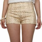 GOLD SHORTS Pants lace LARGE