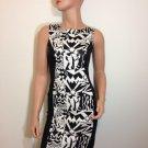 Black White Bodycon Bandage Stretch Dress SMALL