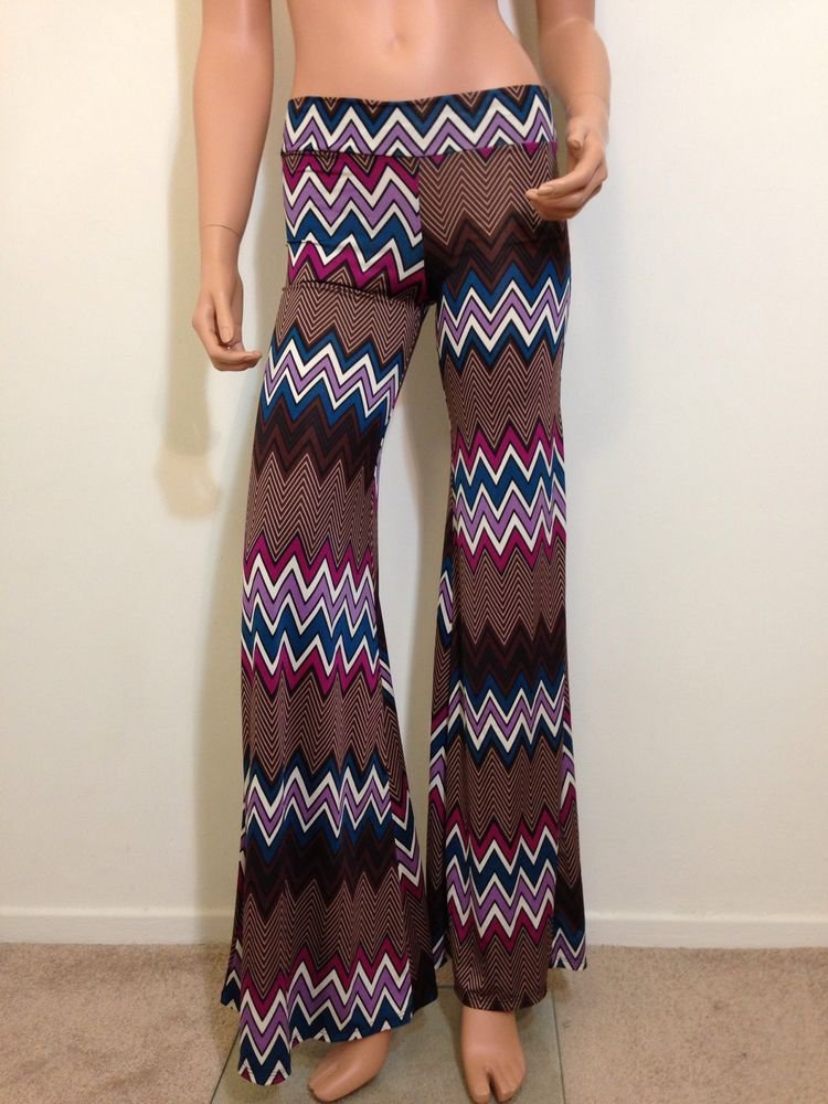 70s style Pants hippie boho festival bell flare bohemian long maxi SMALL