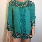 Hippie top Hippie People Bohemian Free Spirit lace tunic blouse MEDIUM