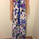 ASOS LIPSY Floral Maxi Dress long paisley hippie hobo gypsy bohemian SMALL