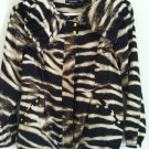 Chaus animal print tiger striped zebra trench topshop asos coat jacket MEDIUM